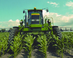 Deere sprayer, corn