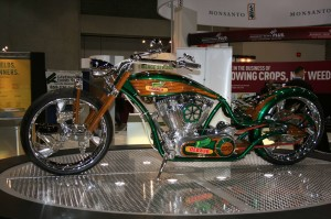 This DeKalb motorcycle celebrates the company's 100th anniversary.