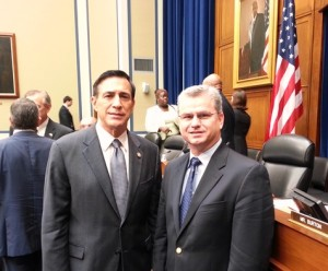 As Chairman of the House Committee on Oversight and Government Reform, Congressman Darrell Issa (R-CA) led a recent hearing and visited with ARA Chairman Billy Pirkle (right) after the meeting.