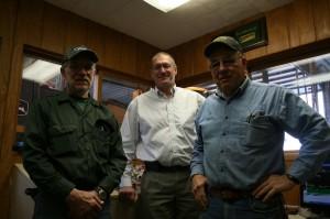 From left: John Walter, Hintzsche president David Hintzsche, and Roger Walter.