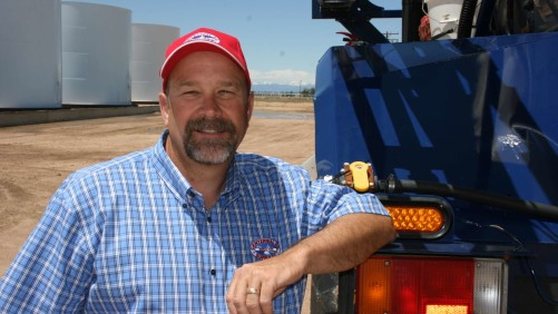 Jim Fargo, Centennial Ag Supply, manages the Kersey operation, providing full-service to growers of irrigated corn, vegetables and dryland wheat.