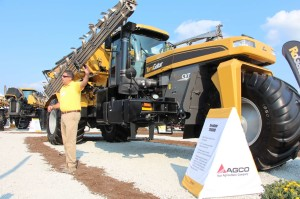 The AGCO TerraGator TG9300B on display at MAGIE 2013.
