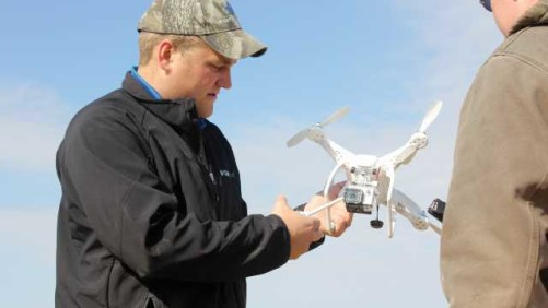 Agronomist with UAV