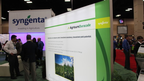 The Agrisure Duracade display at the Syngenta booth, Commodity Classic 2014.