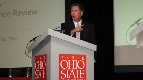 Ohio Governor John Kasich at the 2012 Ohio State Farm Science Review in London, OH.