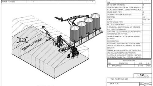 Gumz Seed Service's custom CAD drawing.