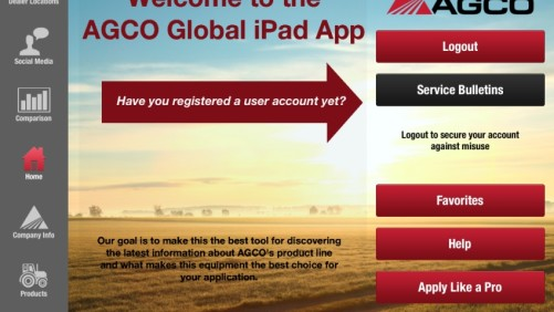 AGCO App screen shot