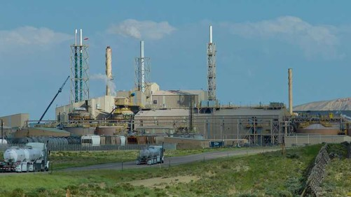 Simplot's fertilizer plant in Rock Springs, WY. Credit: Angus M. Thuermer Jr./WyoFile