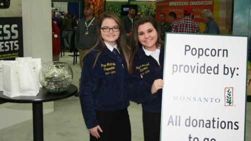 FFA at Monsanto Booth at the 2015 National Farm Machinery Show