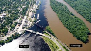 Confluence of St. Croix and Mississippi Rivers in Minnesota