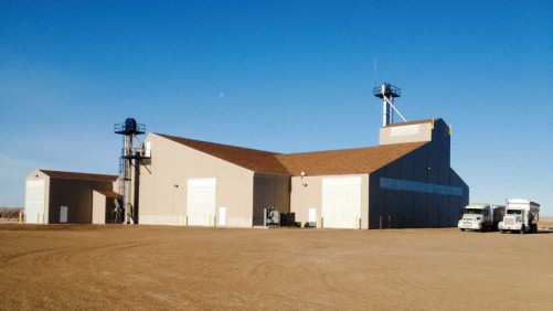 Wilbur-Ellis' new fertilizer blending facility, located in Mott, ND, was designed by A.J. Sackett & Sons.