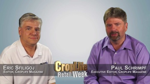Screen capture of this week's Retail Week video featuring CropLife Editor Eric Sfiligoj and Executive Editor Paul Schrimpf as they examine the Ohio Farm Science Review and the CropLife 100.