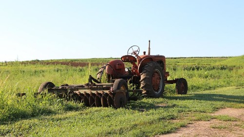 Old tractor shot