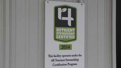 4R Nutrient Stewarship Certified Facility Sign