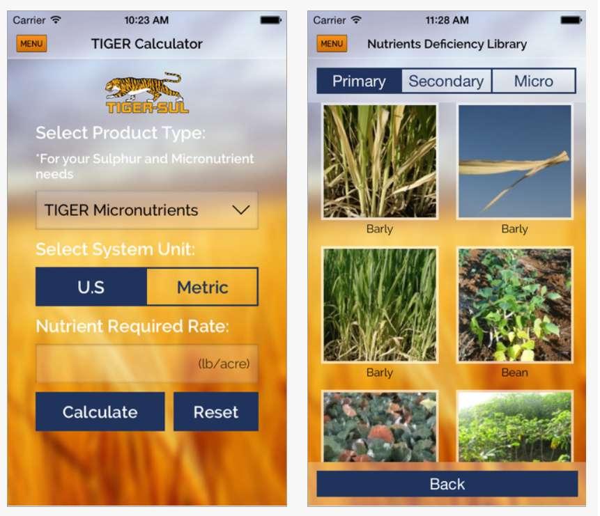 Tiger Sul Crop Nutrient Calculator