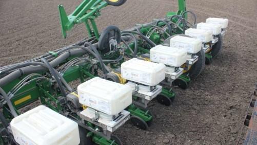 AMVAC Aztec HC Soil Insecticide on Deere bar