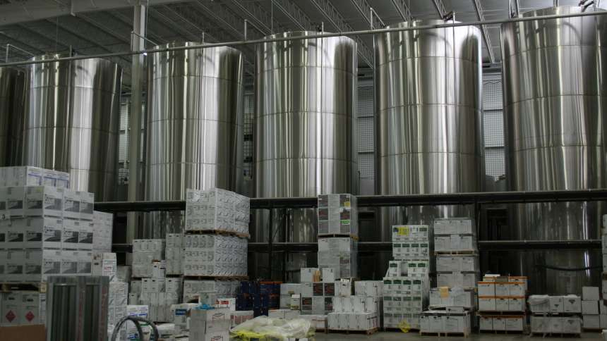 Asmus Farm Supply crop protection products in storage