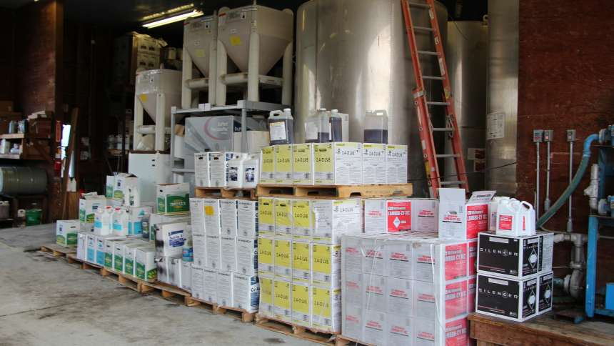 Crop Protection Products in storage