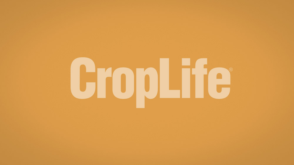 Tan brown to dark gradient background with CropLife logo overlayed.