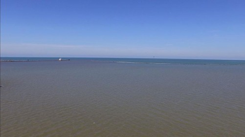 Lake Erie Drone shot