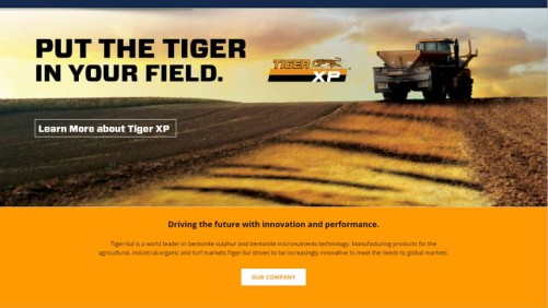 Tiger-Sul Website Screenshot