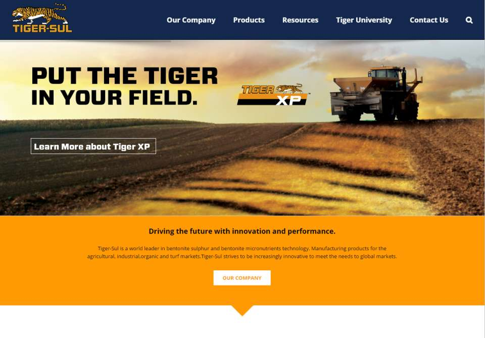 Tiger-Sul Website Screenshot