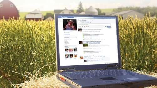Farmer on social media