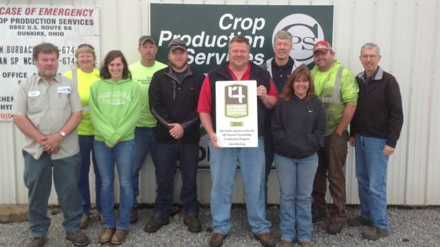 Northwest Ohio Crop Production Services Branches Certified In 4R Nutrient Stewardship