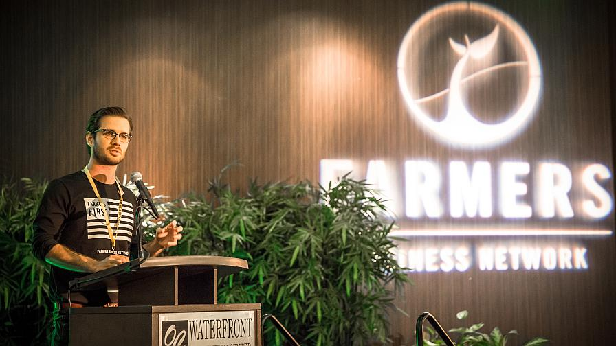 FBN Co-Founder and VP of Product Charles Baron addresses the crowd at the company's Farmer2Farmer Convention.