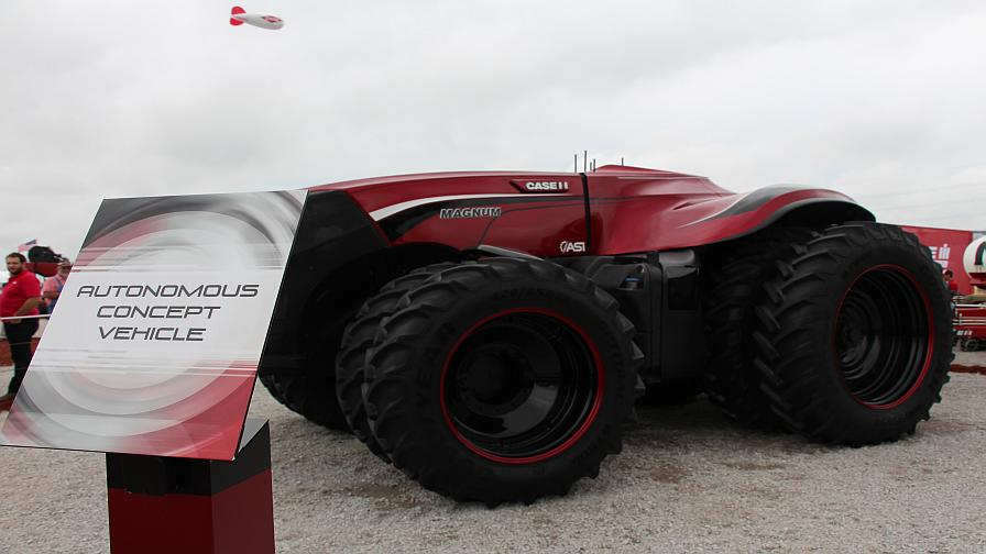 Case IH unveiled an autonomous tractor concept at the 2016 Farm Progress Show in Boone, IA.
