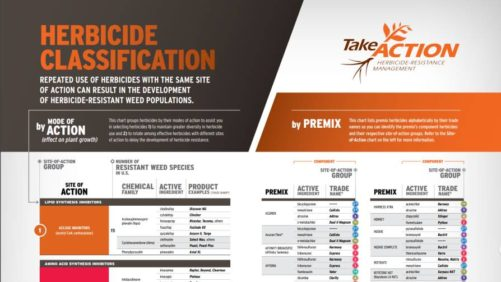 Take Action herbicide chart