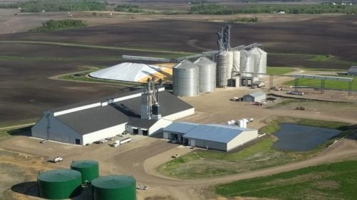 Overhead-view-of-United-Farmers-Cooperative-facility-in-Brownton-MN.