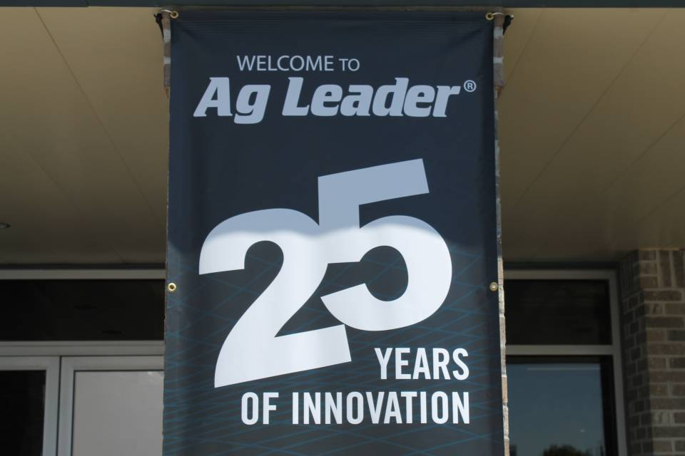 25th anniversary sign on display at Ag Leader.