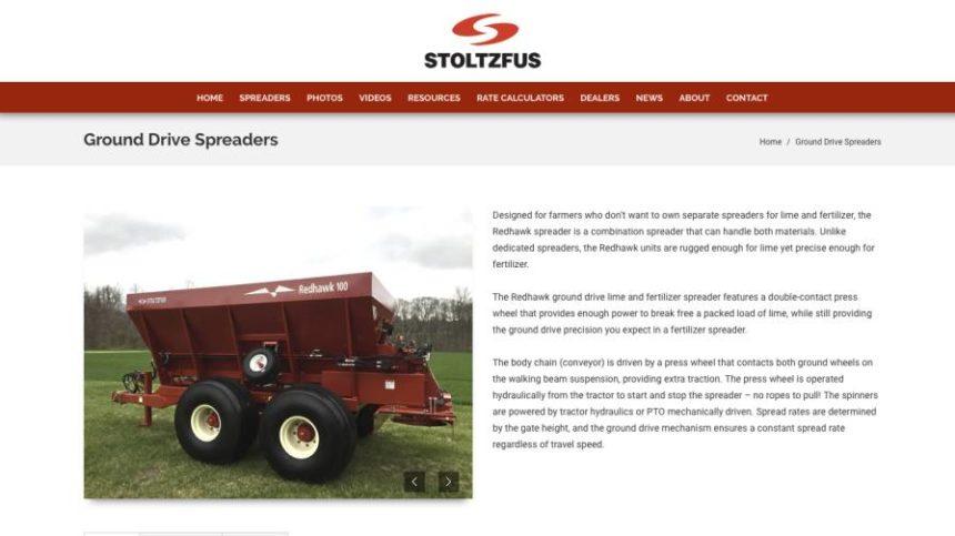 Stoltz Manufacturing Revamps Website for Agricultural Spreaders